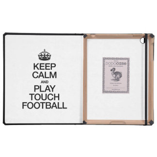 KEEP CALM AND PLAY TOUCH FOOTBALL CASE FOR iPad