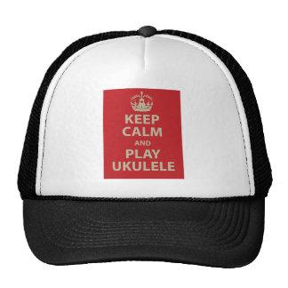 Keep Calm and Play Ukulele Mesh Hats