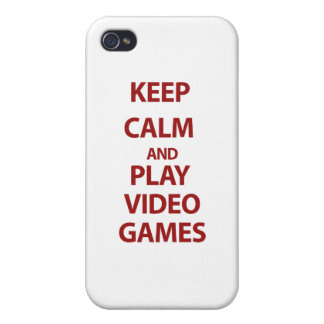 Keep Calm and Play Video Games iPhone 4/4S Cases
