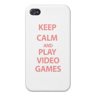 Keep Calm and Play Video Games iPhone 4 Cover