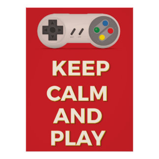 Keep Calm and Play vintage poster
