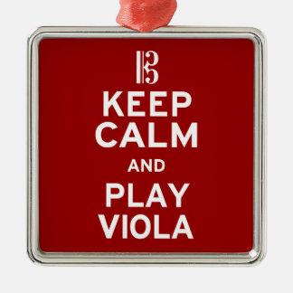 Keep Calm and Play Viola Christmas Ornament