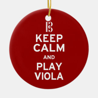 Keep Calm and Play Viola Christmas Ornament