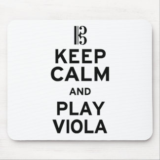 Keep Calm and Play Viola Mouse Pad