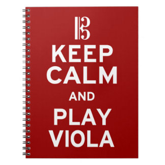 Keep Calm and Play Viola Notebooks