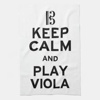 Keep Calm and Play Viola Tea Towel
