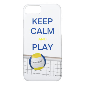 KEEP CALM AND PLAY VOLLEYBALL iPhone 7 case