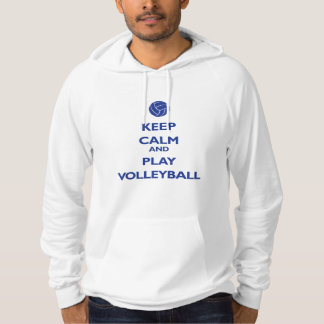 Keep Calm and Play Volleyball (reflex blue) Hoodie