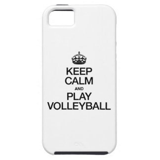 KEEP CALM AND PLAY VOLLEYBALL TOUGH iPhone 5 CASE