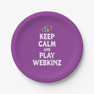 Keep Calm And Play Webkinz Paper Plate