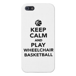 Keep calm and play wheelchair basketball cover for iPhone 5/5S