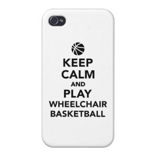 Keep calm and play wheelchair basketball iPhone 4 cover