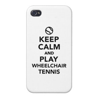 Keep calm and play wheelchair tennis case for iPhone 4