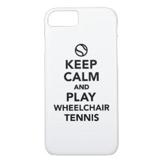 Keep calm and play wheelchair tennis iPhone 7 case