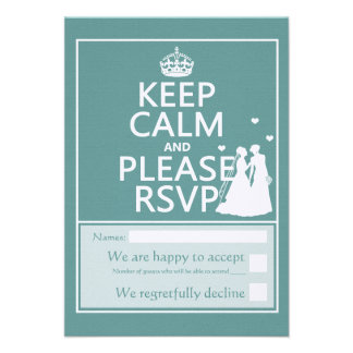 Keep Calm and Please RSVP Invitations