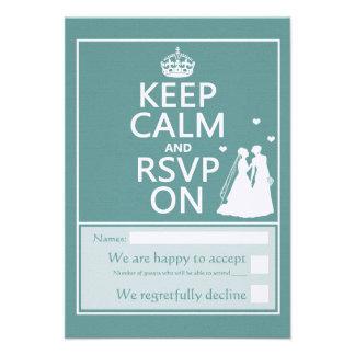 Keep Calm and Please RSVP Custom Invite