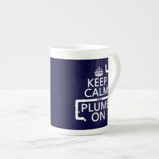 Keep Calm and Plumb On (plumber/plumbing) Bone China Mug