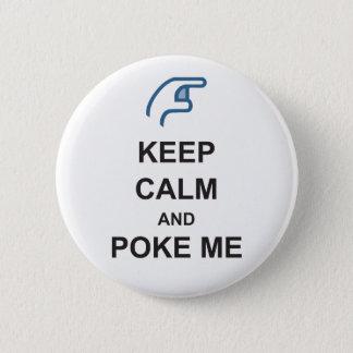 KEEP CALM and POKE ME funny Social FACEBOOK badge