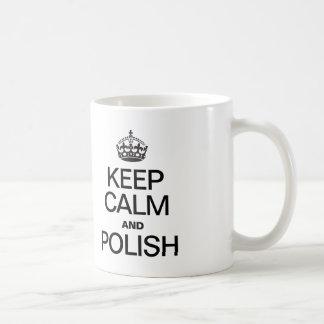 KEEP CALM AND POLISH BASIC WHITE MUG