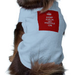 Keep Calm and Poodle On Sleeveless Dog Shirt