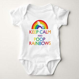 Keep Calm and Poop Rainbows Unicorn Baby Bodysuit