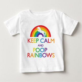 Keep Calm and Poop Rainbows Unicorn Baby T-Shirt