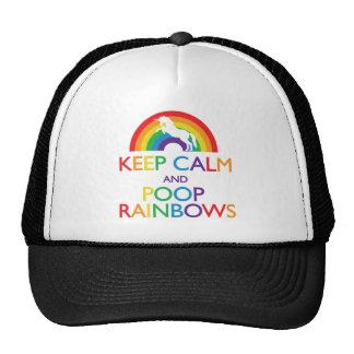 Keep Calm and Poop Rainbows Unicorn Cap