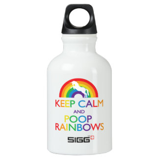 Keep Calm and Poop Rainbows Unicorn Small SIGG Traveller 0.3L Water Bottle