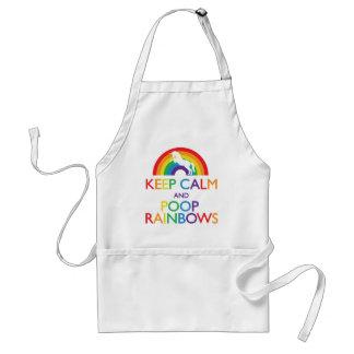 Keep Calm and Poop Rainbows Unicorn Standard Apron