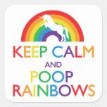 Keep Calm and Poop Rainbows Unicorn Stickers