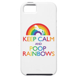 Keep Calm and Poop Rainbows Unicorn Tough iPhone 5 Case
