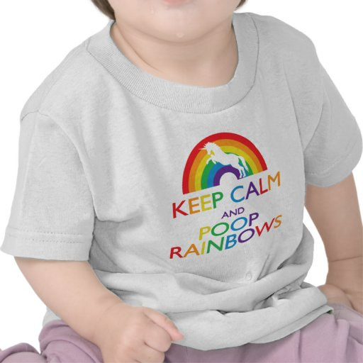 Keep Calm and Poop Rainbows Unicorn Tshirt
