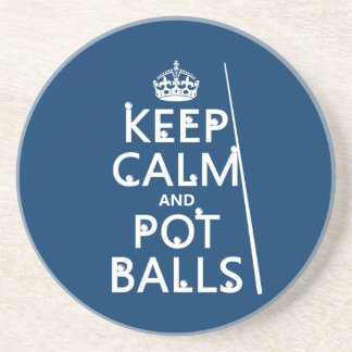 Keep Calm and Pot Balls (snooker/pool) Drink Coaster