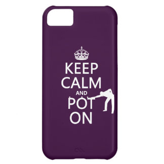 Keep Calm and Pot On (Snooker/Pool) iPhone 5C Case
