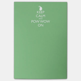 KEEP CALM AND POW WOW ON POST-IT® NOTES