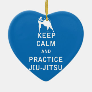 Keep Calm and Practice Jiu-Jitsu Christmas Ornament