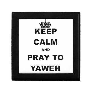 KEEP CALM AND PRAY TO YAWEH png Keepsake Box