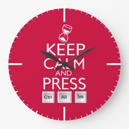 Keep Calm and press control Alt and delete funny Clock