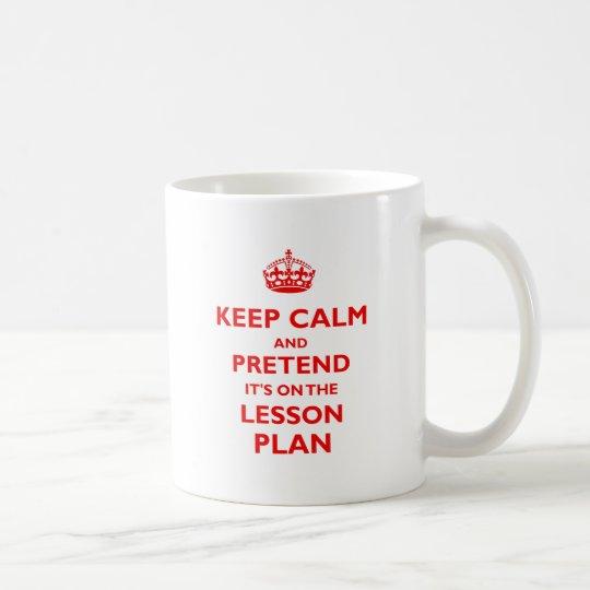 Keep Calm And Pretend (Red) Coffee Mug