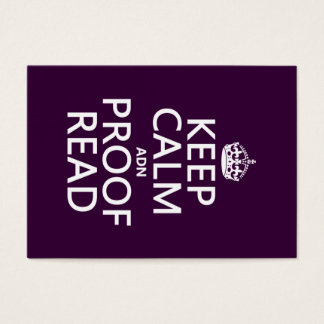 Keep Calm 'and' Proofread (adn) (in any color) Business Card