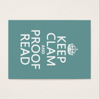 Keep Calm and Proofread (clam) (any color)