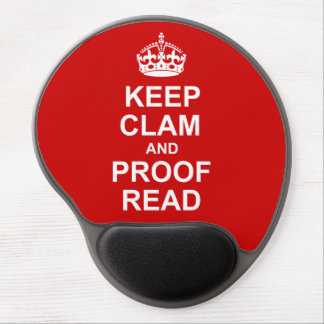 Keep Calm and Proofread Mousepad Gel Mouse Mat