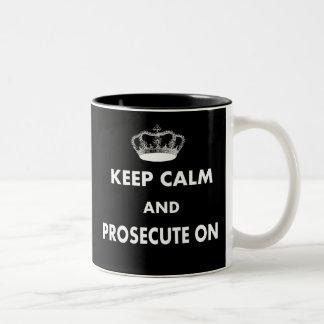 Keep Calm and Prosecute On Gifts Two-Tone Coffee Mug