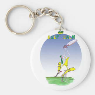 keep calm and protect your bails, tony fernandes key ring