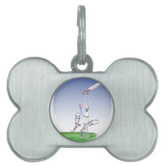 keep calm and protect your bails, tony fernandes pet ID tag