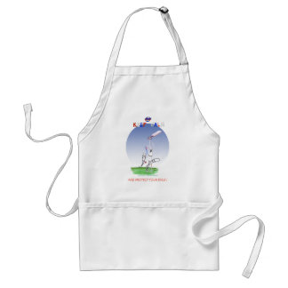 keep calm and protect your bails, tony fernandes standard apron