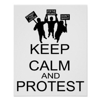 Keep Calm And Protest Poster