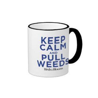 Keep Calm and Pull Weeds Ringer Mug