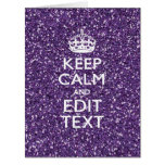 Keep Calm and Purple Mauve Big Greeting Card