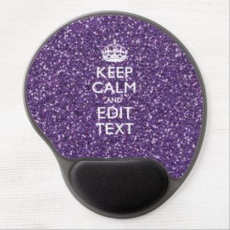 Keep Calm and Purple Mauve Gel Mouse Mat